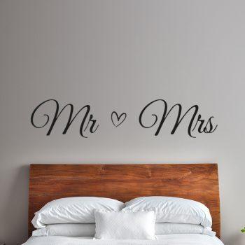 mr en mrs slaapkamer sticker muurdecoratie inspiratie leuk ideeen