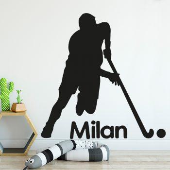 muursticker hockey kinderkamer naam zwart ideeen diy leuk inspiratie
