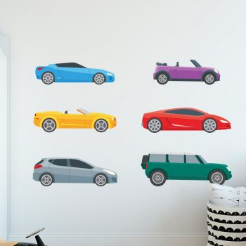 muursticker kinderkamer autos