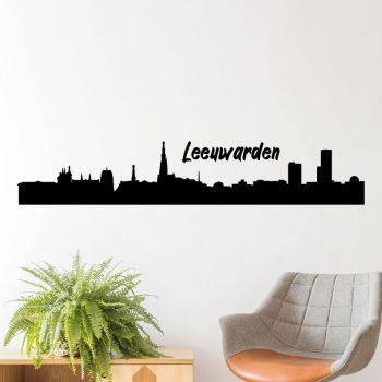muursticker-leeuwarden-skyline