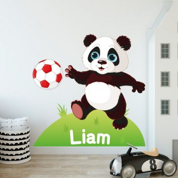 muursticker panda voetballende babykamer kinderkamer kids room speelkamer ideen inspiratie leuk diy