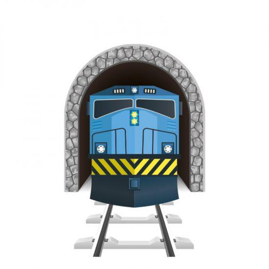 muursticker trein locomotief