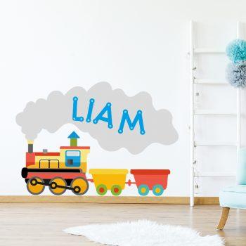 muursticker treinen babykamer kinderkamer kleurrijk speels vrolijke ideeen inspiratie