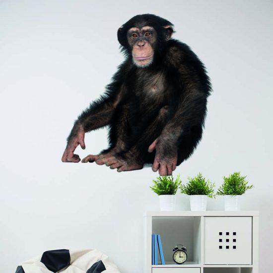 muursticker kinderkamer ideeen aap chimpansee inspiratie