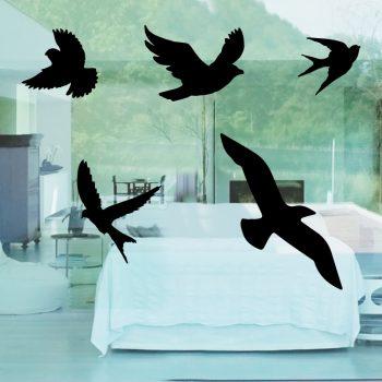 vogelbescherming stickers raamstickers zwart duif vogel meeuw geen vogels tegen het raam