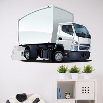 muursticker vrachtauto kinderkamer voertuigen bus auto jongen ideeën inspiratie