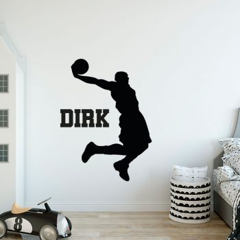 muursticker basketballer kinderkamer stoer ideeen zwart sport inspiratie acessoires