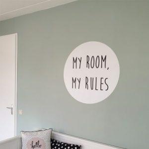 Afbeelding van muursticker met tekst