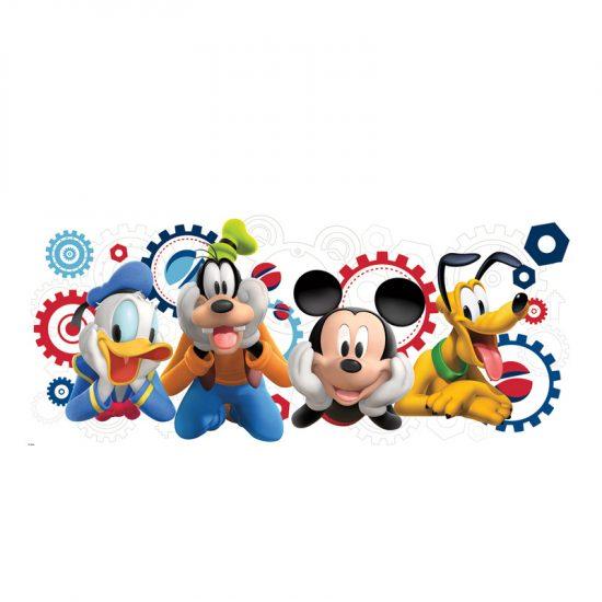 muursticker goofy clubhouse donald duck mickey mouse disney