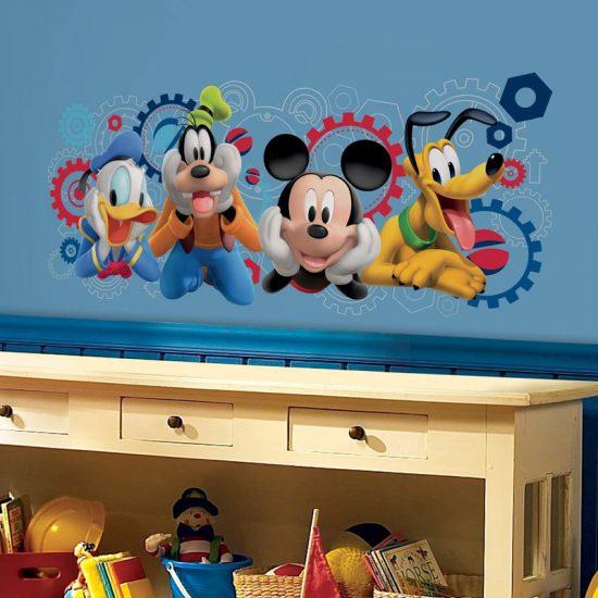 muursticker roommates mickey mouse clubhouse goofy donald duck pluto