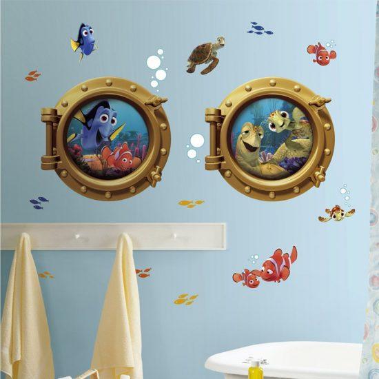 muurstickers nemo findin g disney pixars kinderkamer vissen dieren