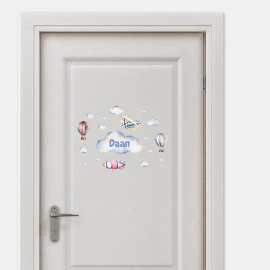deursticker naamsticker kinderkamer ideeen inspiratie verven wit daan