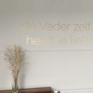 leuke muur teksten goud geloof christelijk woonkamer slaapkamer