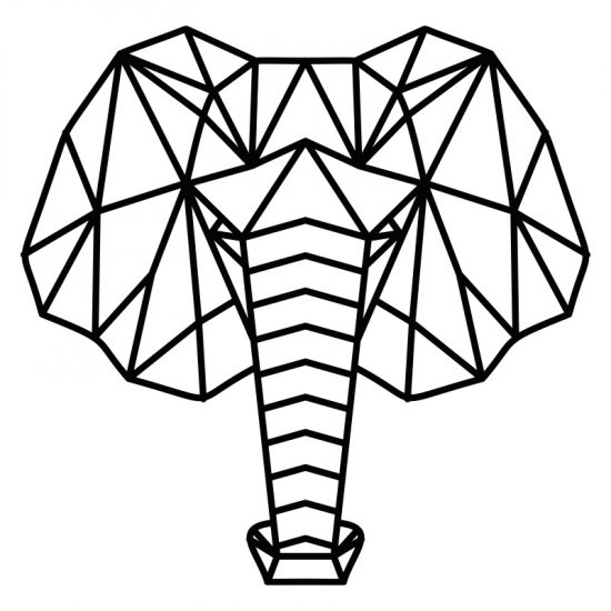 muursticker origami olifant zwart woonkamer inspiratie ideeen