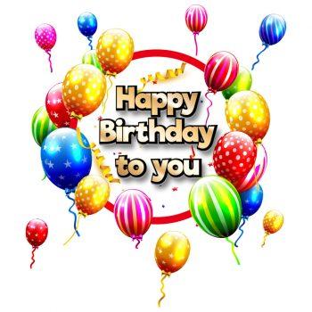 statische herbruikbare raamsticker verjaardag feest slingers balonnen kleurrijk happy birthday