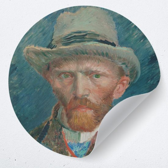 Muurcirkel zelfportret Vincent van Gogh 1887 muurdecoratie kunst