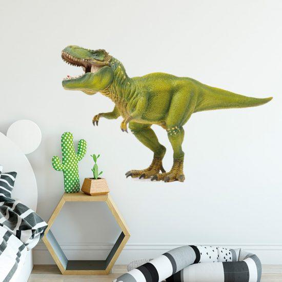 muursticker dinosaurus dino dieren kinderkamer ideeën inspiratie muurdecoratie stoer