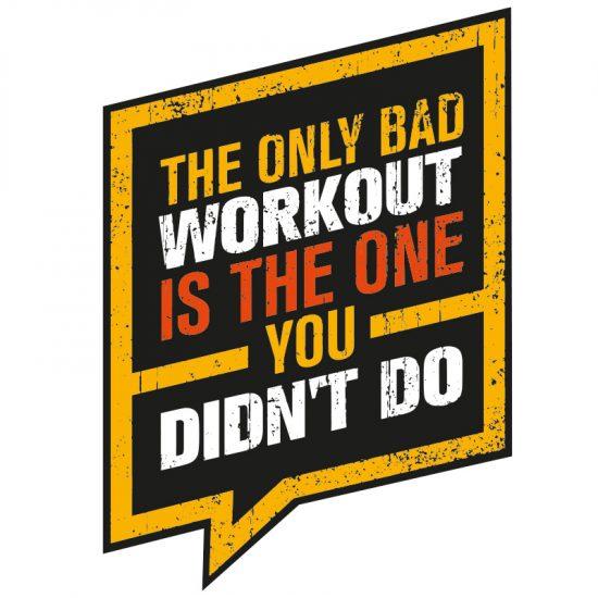 muursticker fitness kamer stoer zwart groot klein wit workout quote tekst eigen