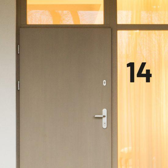huisnummer sticker brievenbus container nummer 1234567890 kliko