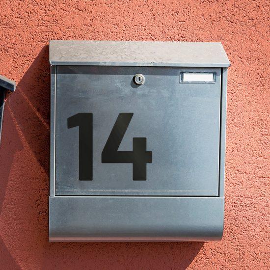 huisnummer sticker kliko sticker container voordeur zwart eigen nummer