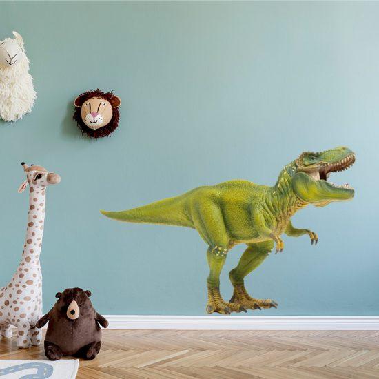 muursticker dinosaurussen t-rex kinderkamer verven muurdecoratie inspiratie wanddecoratie jongenskamer stoer ideeen