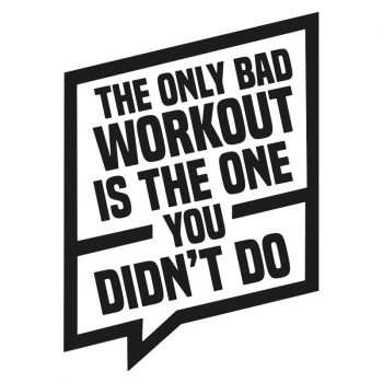 muursticker fitness kamer stoer zwart groot klein wit workout quote tekst eigen