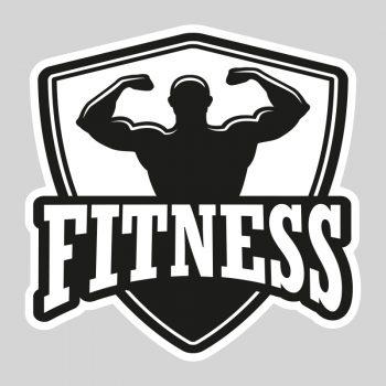 muursticker fitness kamer stoer zwart groot klein wit workout quote tekst muurdecoratie eigen