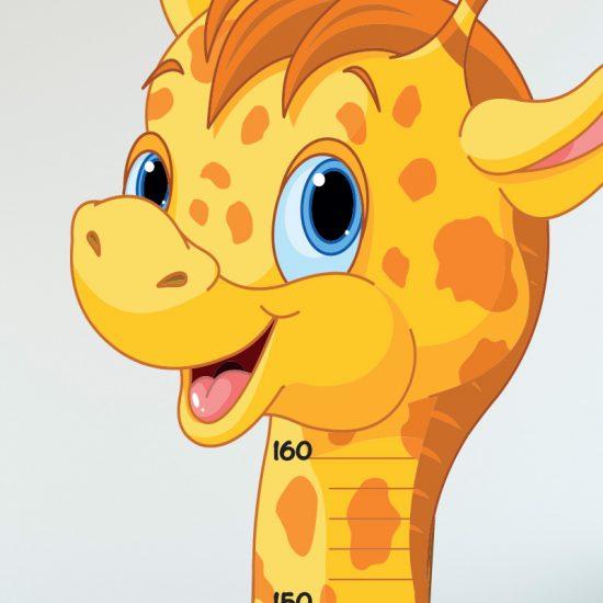 muursticker groeimeter giraffe baby kinderkamer