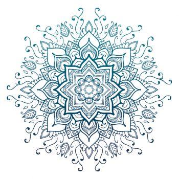 muursticker mandala bloem meditatie ruimte muurdecoratie inspiratie ideeen yoga namasté psychadelic