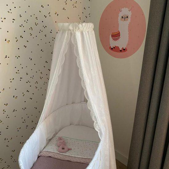 muursticker muurcirkel behangcirkel wanddecoratie babykamer meisjeskamer roze zacht lief alapaca lama dieren hartjes