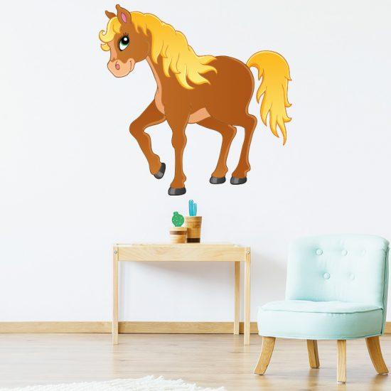 Muursticker paard kinderkamer babykamer ideeën inspiratie dieren