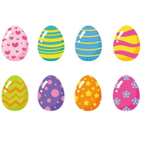 Muursticker Pasen eieren vrolijk pasen sticker ramen statische