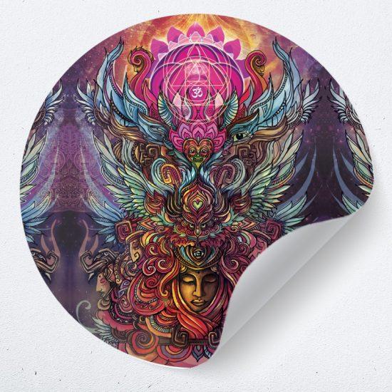 muurcirkel behangcirkel muurdecoratie wanddecoratie kunstwerk woonkamer schilderij inspiratie ideeen nomad psychedelisch1