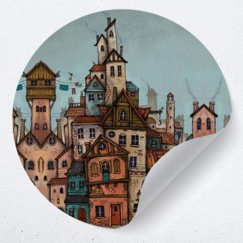 muurcirkel lance schmale fantasie stad kleurrijk kinderkamer speels ideeen1