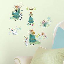 muursticker-frozen-zonnebloemen-anna-else-kinderkamer-meisje