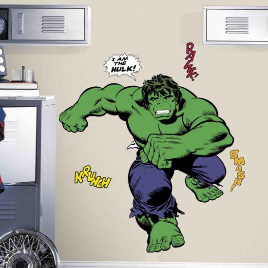 muursticker-hulk-groen-kinderkamer-stoer