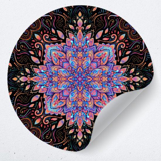 muursticker mandala psychedelisch sy lance kunst psy fi muurdecoratie yoga 1