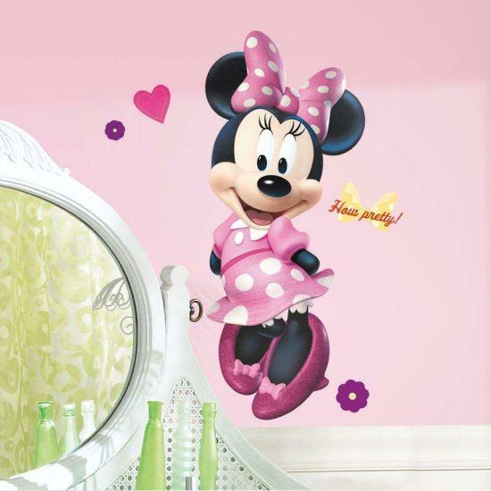 muursticker-minnie-mouse-meisjeskamer