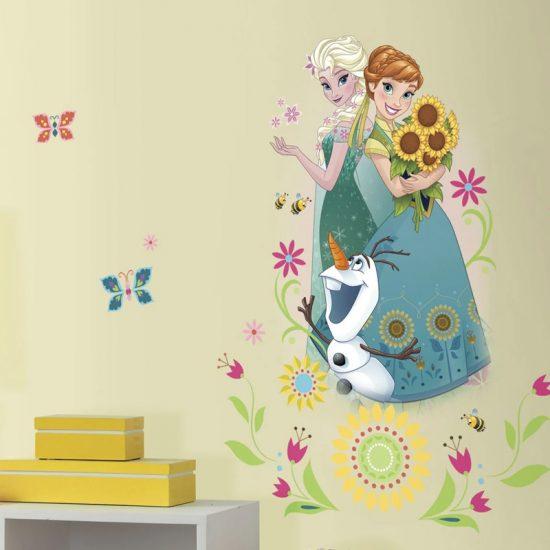 muursticker-roommates-disney-belle-en-de-beest-bloemen-meisjekamer-ideeen-leuk-goedkoop-frozen-zelfklevend