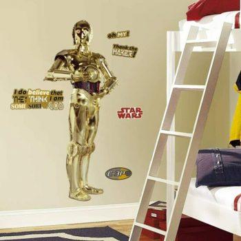 c3po star wars stickers muurstickers muurdecoratie kinderkamer stoer ideeen inspiratie
