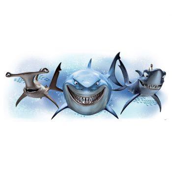 muursticker haaien finding nemo