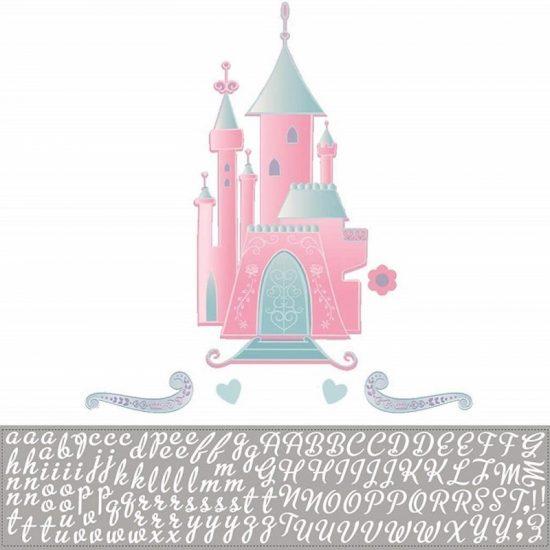 muursticker kasteel princess letters alfabet