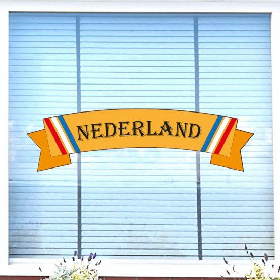 raamsticker ek wk oranje nederland statisch herbruikbaar feest koningsdag
