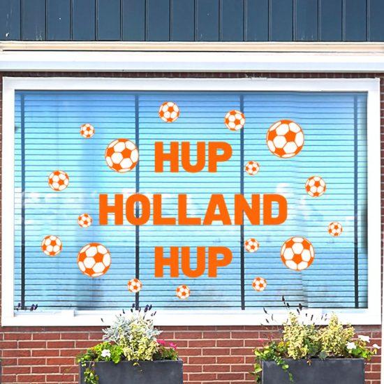 raamsticker statisch herbruikbaar ek wk nederlands elftal tuin versieren oranje