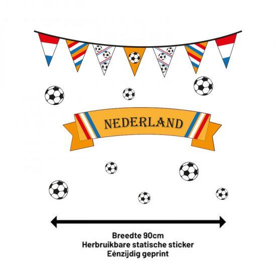 raamstickers set ek nederland oranje hup holland hup decoratie tuin