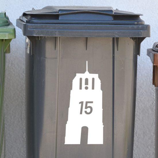 oldehove container sticker kliko huisnummer wit leeuwarden