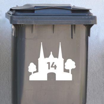 watertoren sneek sticker huisnummer container wit zwart