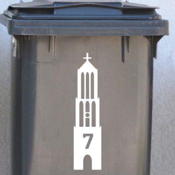 container sticker dom toren utrecht kliko afvalbak